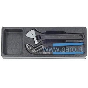 Набор переставные клещи и разводной ключ ACK-384012